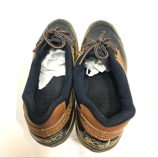 Sporto Lace-up Navy Mules Image 5