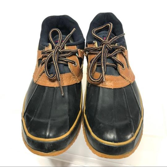 Sporto Lace-up Navy Mules Image 6