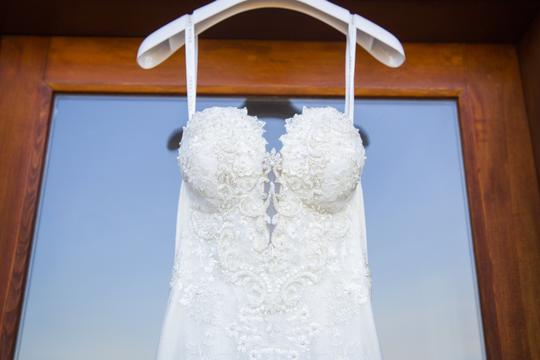 Galia Lahav White Embroidered Lace Guerlain From Le Secret Royale Collection By Formal Wedding Dress Size 8 (M) Image 1