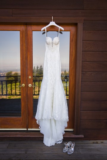 Galia Lahav White Embroidered Lace Guerlain From Le Secret Royale Collection By Formal Wedding Dress Size 8 (M) Image 2