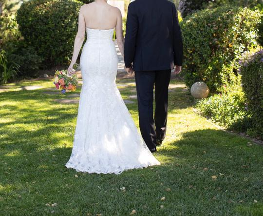 Galia Lahav White Embroidered Lace Guerlain From Le Secret Royale Collection By Formal Wedding Dress Size 8 (M) Image 5