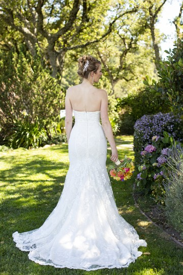 Galia Lahav White Embroidered Lace Guerlain From Le Secret Royale Collection By Formal Wedding Dress Size 8 (M) Image 6