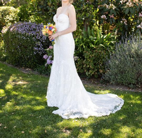 Galia Lahav White Embroidered Lace Guerlain From Le Secret Royale Collection By Formal Wedding Dress Size 8 (M) Image 7