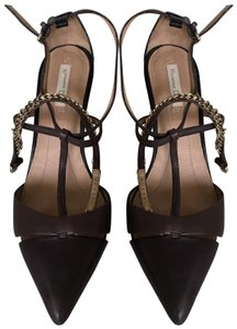 Massimo Dutti Stiletto Straps dark grey brown Pumps