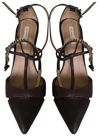Massimo Dutti Stiletto Straps dark grey brown Pumps Image 0