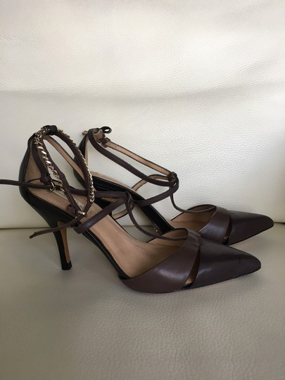 Massimo Dutti Stiletto Straps dark grey brown Pumps Image 1