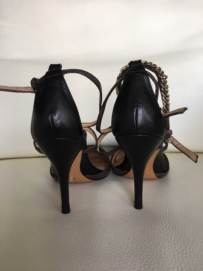 Massimo Dutti Stiletto Straps dark grey brown Pumps Image 2