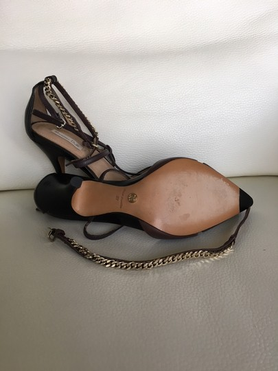 Massimo Dutti Stiletto Straps dark grey brown Pumps Image 3