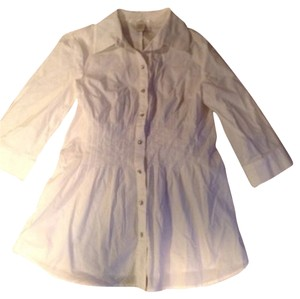 Charlotte Russe Rhinestone Button Down Button Down Shirt White