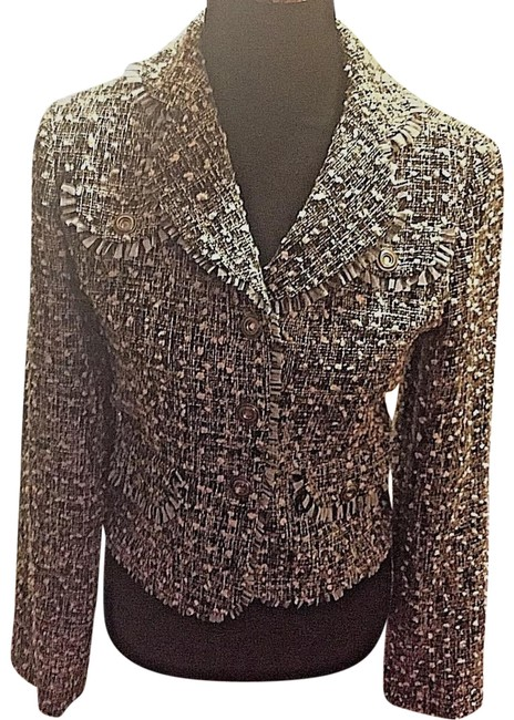 Item - Multi-color Cotton Blend Tweed Small Blazer Size 6 (S)