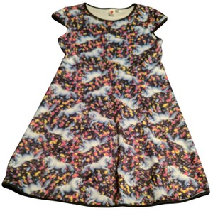 love rocks Unicorns Size Xs Capped Sleeve Fitted Dress