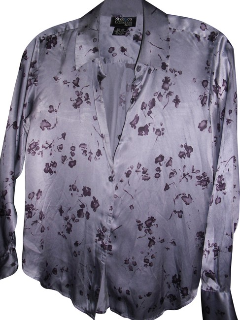 Preload https://img-static.tradesy.com/item/24142231/style-and-co-purple-lavender-co-pure-silk-petite-splashes-button-down-top-size-2-xs-0-3-650-650.jpg