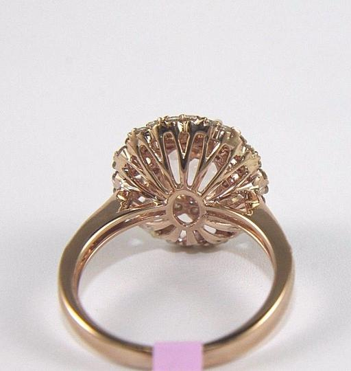 Other Oval Cut Pink Morganite Ladys Ring w/Diamond Halo 14k Rose Gold 2.71Ct Image 2