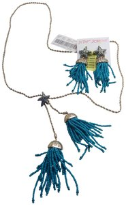 Betsey Johnson Betsey Johnson New Turquoise Beaded Necklace and Earrings