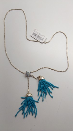 Betsey Johnson Betsey Johnson New Turquoise Beaded Necklace and Earrings Image 1