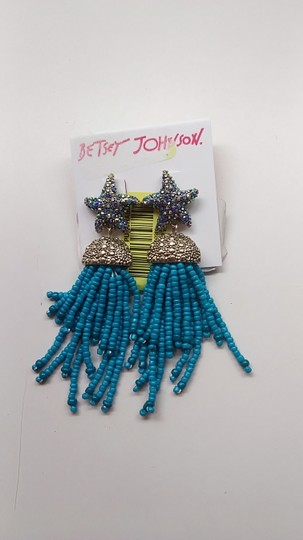 Betsey Johnson Betsey Johnson New Turquoise Beaded Necklace and Earrings Image 4