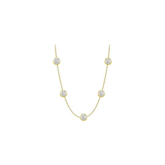 Preload https://img-static.tradesy.com/item/24142356/white-14k-yellow-gold-cubic-zirconia-station-with-1-carat-tgw-in-36-necklace-0-0-540-540.jpg