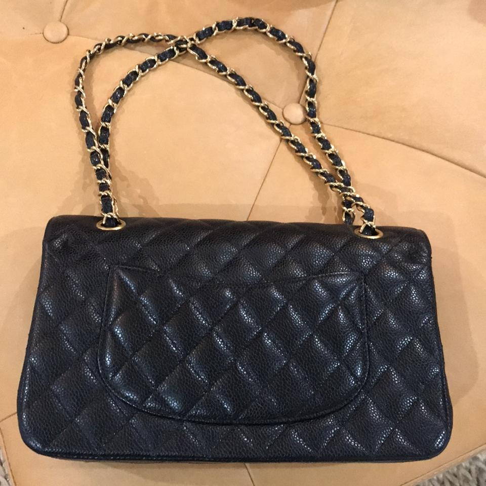 a7e8d4b9d4f5 Chanel Classic Caviar Quilted Small Double Flap Black Leather Shoulder Bag