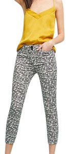 Bowery Printed Pants Capri/Cropped Pants black and white