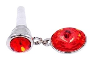Fashion Cell Phone Dust Plug Charms: Red