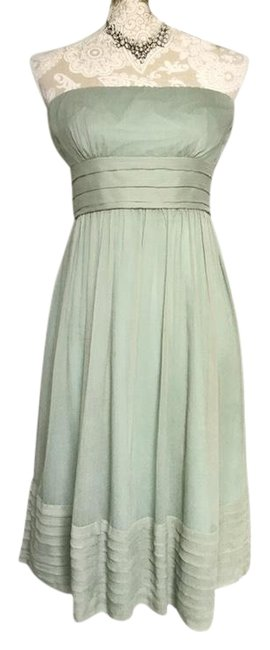 Item - Pale Green Juliet In Silk Chiffon Dusty Shale Mid-length Formal Dress Size 6 (S)