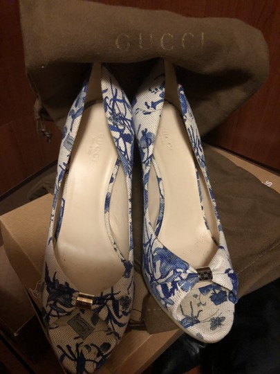 Gucci White and blue Wedges Image 3