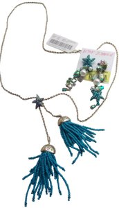 Betsey Johnson Betsey Johnson New Turquoise Necklace and Earrings