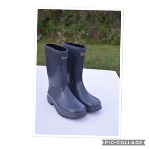 Barbour blue gray Boots