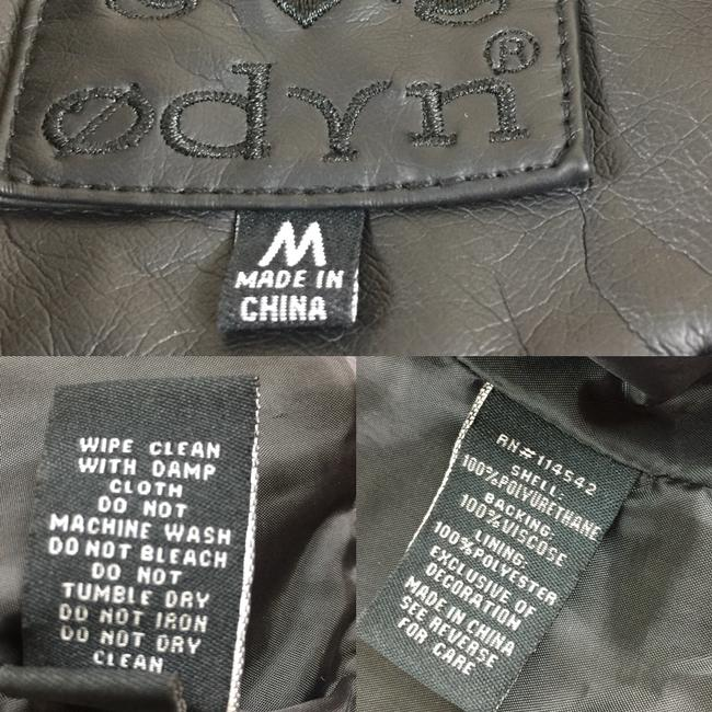 Odyn Motorcyclejacket Embroidered Fauxleather Motojacket black with colorful florals Leather Jacket Image 9