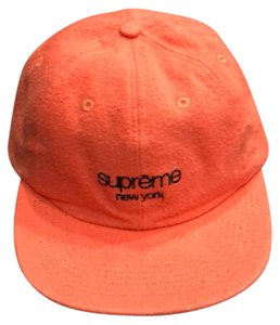 Supreme Peach Napped Canvas Classic Logo