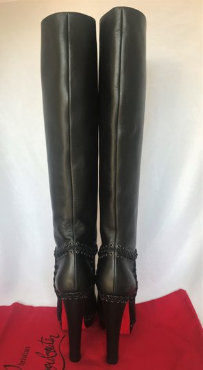 Christian Louboutin Pigalle Ankle Thigh High Over The Knee Black Boots Image 3