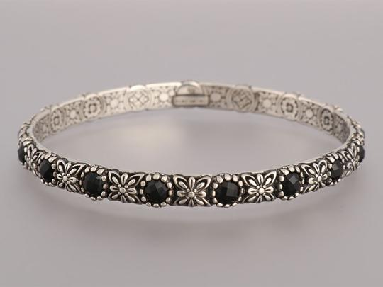 Konstantino Black Onyx and Sterling Silver Nykta Bangle Bracelet Image 2