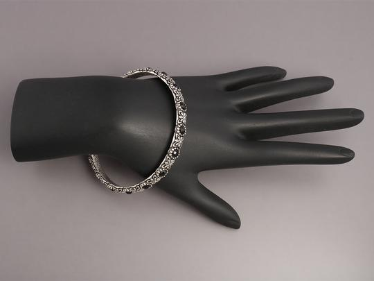 Konstantino Black Onyx and Sterling Silver Nykta Bangle Bracelet Image 4