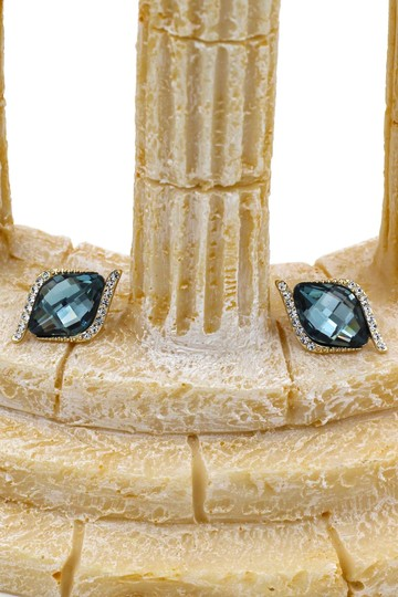 Ocean Fashion Dark Green Mystery crystal eye earrings Image 3
