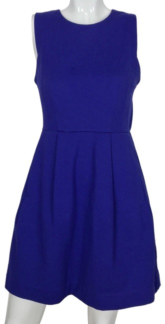 Preload https://img-static.tradesy.com/item/24142890/madewell-blue-fit-and-flare-royal-career-short-casual-dress-size-6-s-0-1-650-650.jpg