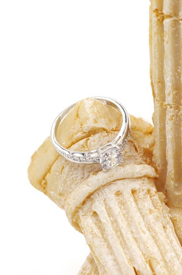 Ocean Fashion simple crystal silver ring Image 2