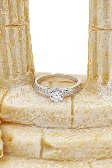 Ocean Fashion simple crystal silver ring Image 5