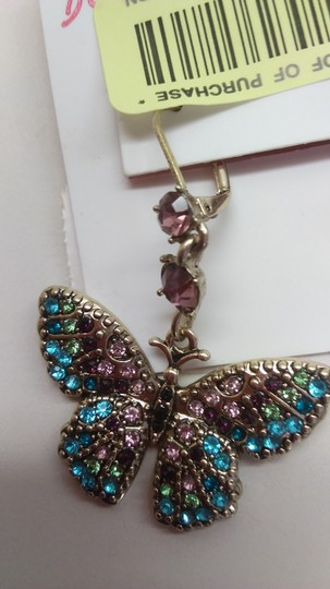 Betsey Johnson Betsey Johnson New Mismatch Blue Butterfly Earrings Image 1