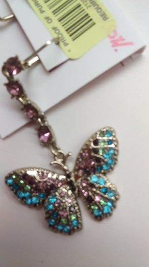 Betsey Johnson Betsey Johnson New Mismatch Blue Butterfly Earrings Image 2