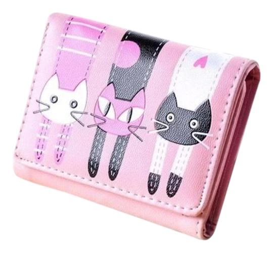 Fashion Cute Lite Pink Cat Wallet Image 0