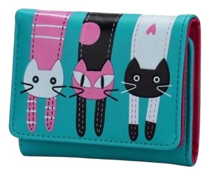 Fashion Cute Turquoise Blue Cat Wallet