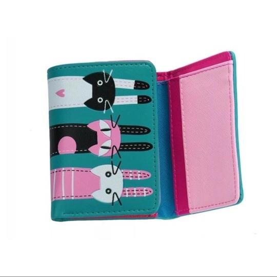 Fashion Cute Turquoise Blue Cat Wallet Image 1
