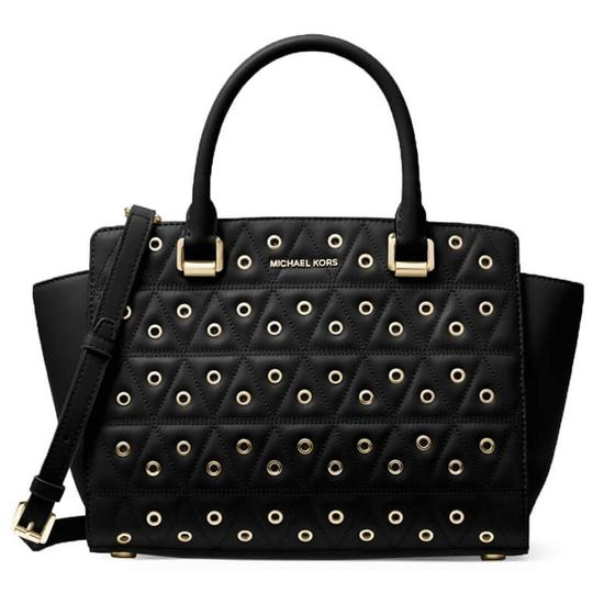 Preload https://img-static.tradesy.com/item/24143142/michael-kors-new-medium-stud-grommet-selma-black-leather-satchel-0-0-540-540.jpg