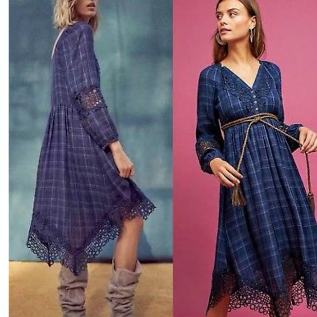 Preload https://img-static.tradesy.com/item/24143173/anthropologie-blue-and-black-plaid-kerchief-mid-length-night-out-dress-size-4-s-0-0-650-650.jpg