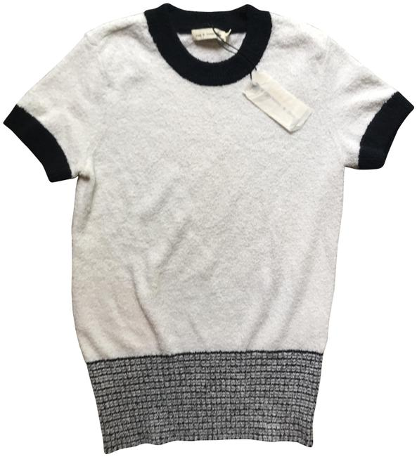 Rag & Bone Ragandbone Fashion T Shirt White/Navy Image 0