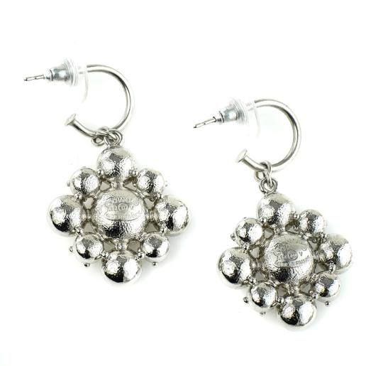Chanel CC Logo Dangling Crystal Clusters Baroque Square Classic Earrings. Image 2