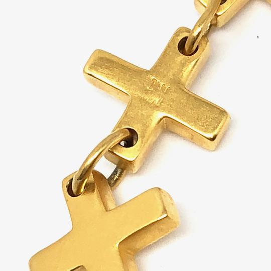 Robert Lee Morris ICONIC Flat Cross 24K Gold Plated with Lobster Claw 7