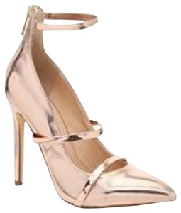 Liliana Rose gold Pumps