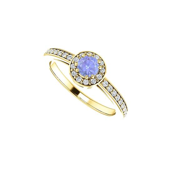 Preload https://img-static.tradesy.com/item/24143409/blue-round-cz-tanzanite-halo-in-18k-yellow-gold-vermeil-ring-0-0-540-540.jpg