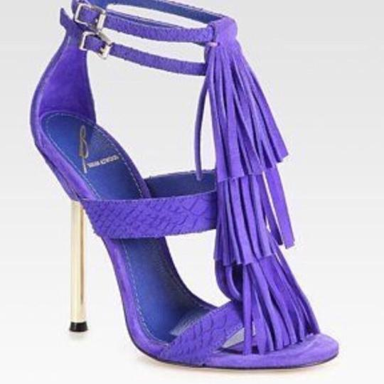 Brian Atwood purple electric blue Pumps Image 1
